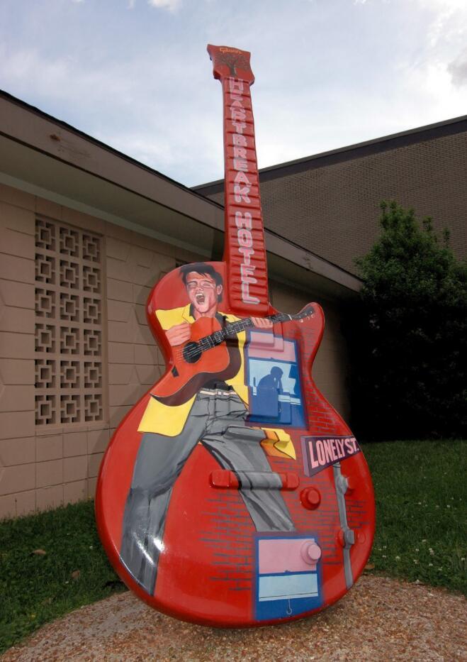 larger-than-life guitar